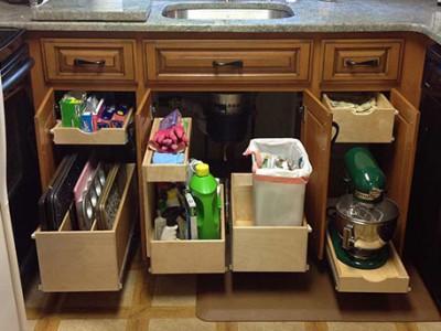 ... Kitchen Storage Options. Door-to-drawer-conversion & Get Organized: Kitchen Storage Options - PHOENIX Cabinet Cures