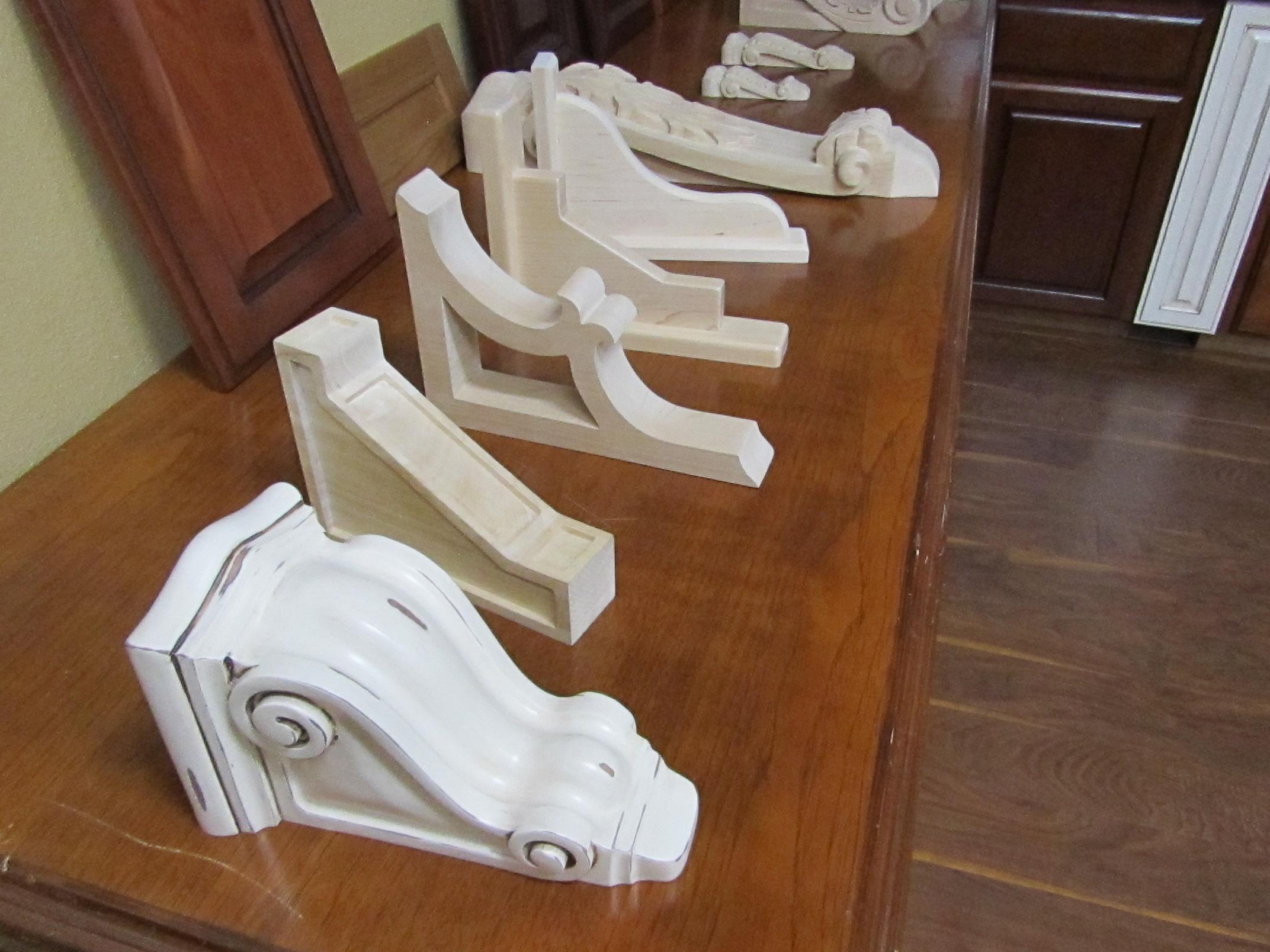 unpainted wood corbels phoenix cabinet cures