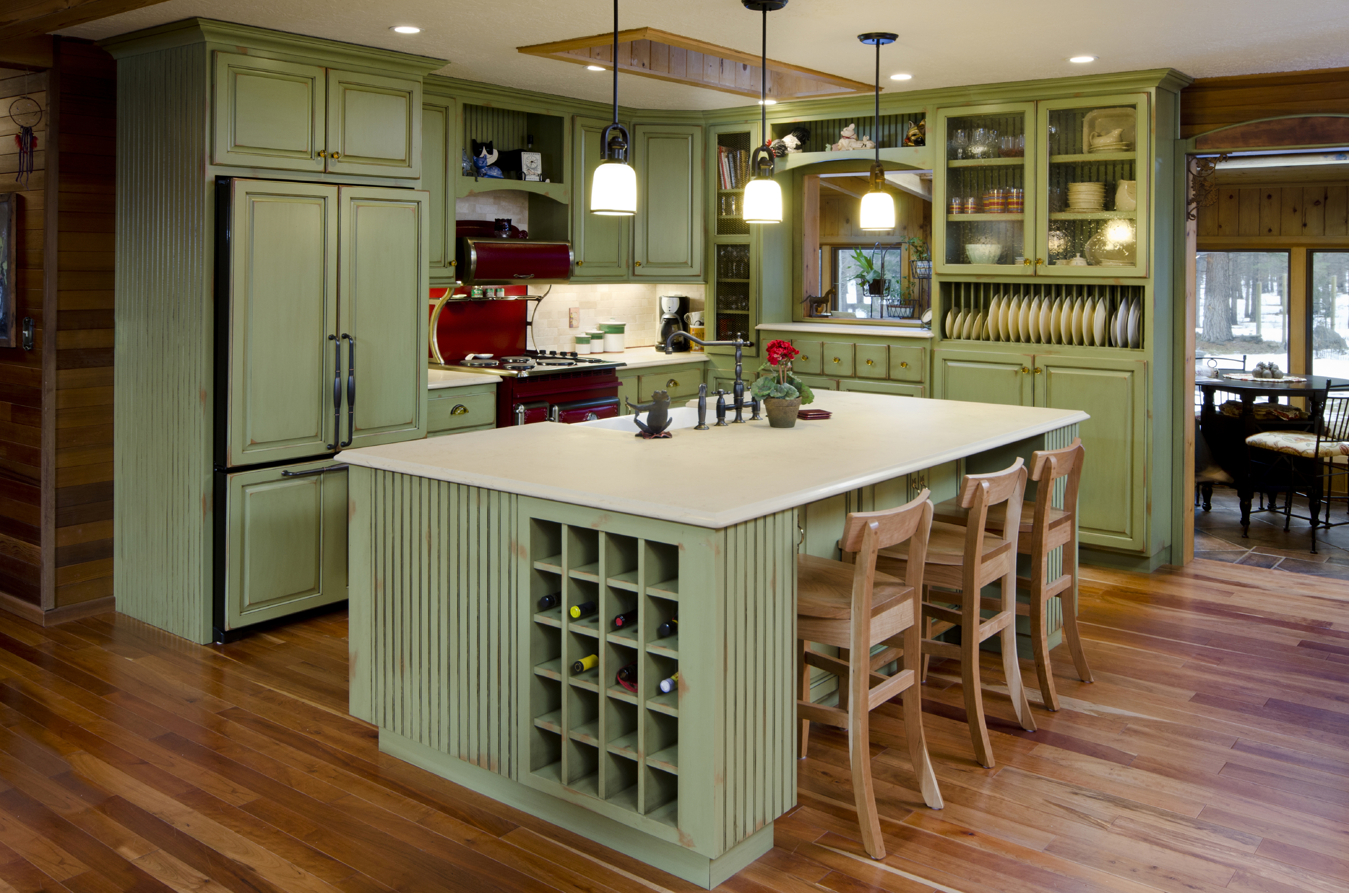 green rustic kitchen phoenix cabinet cures
