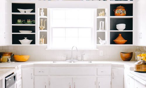 paint open kitchen cabinets