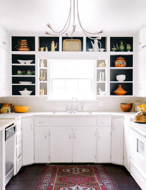 paint open kitchen cabinets