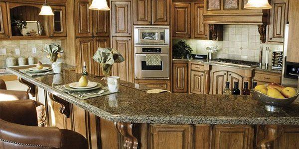 brown wood corbels kitchen bar wood kitchen cabinets granite countertop phoenix cabinet cures