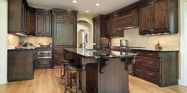 brown wood corbels kitchen island dark wood kitchen cabinets phoenix cabinet cures
