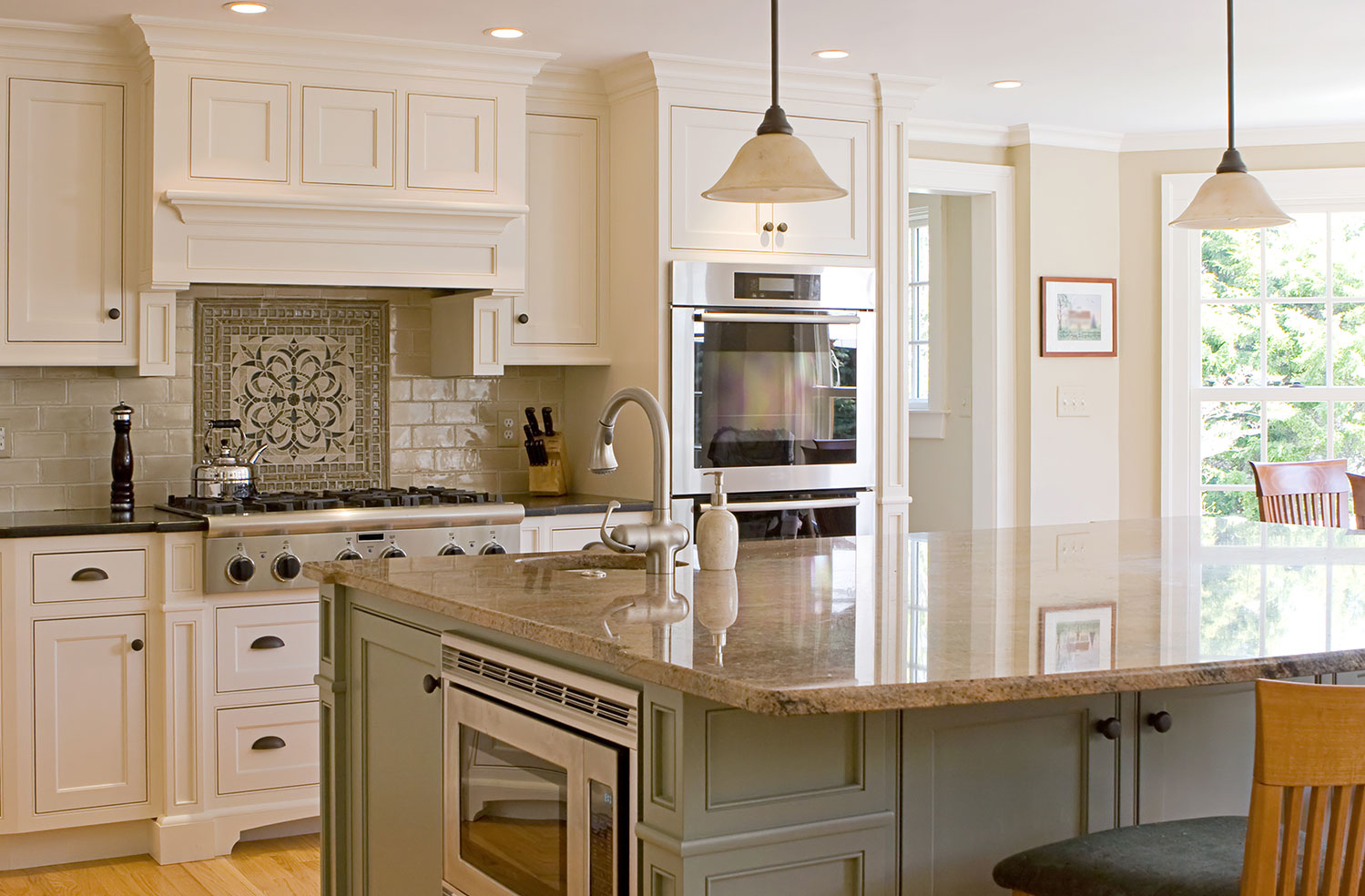 grey kitchen island