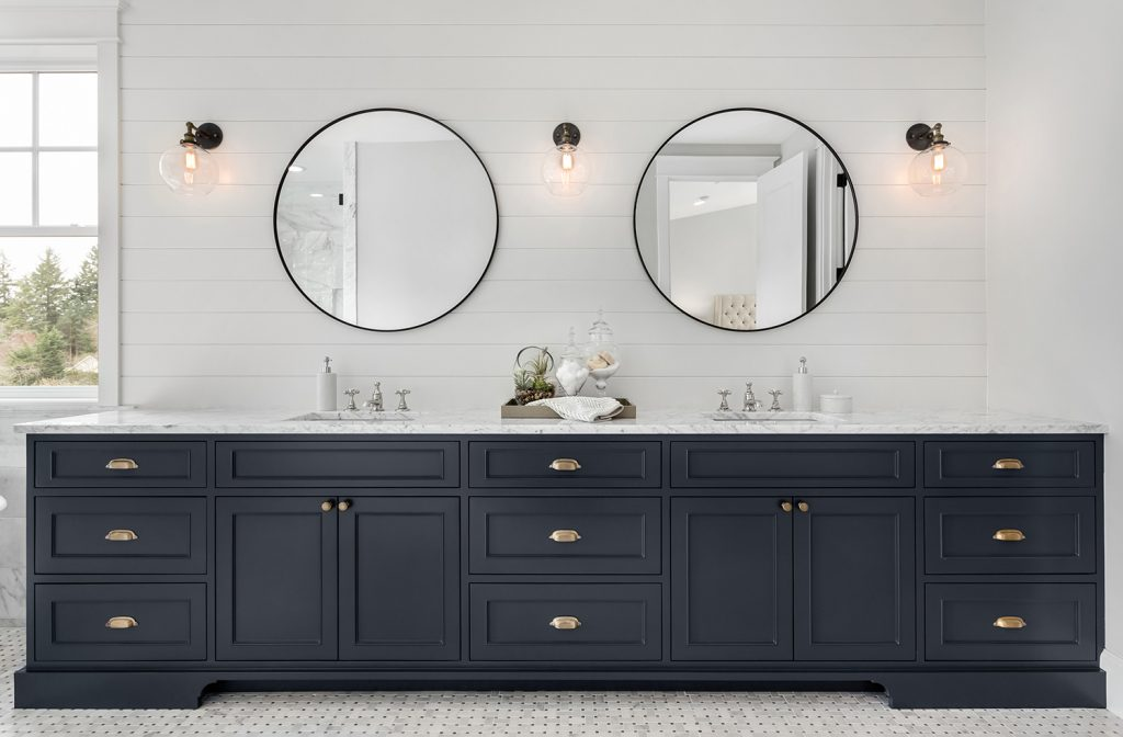 dark bathroom cabinet