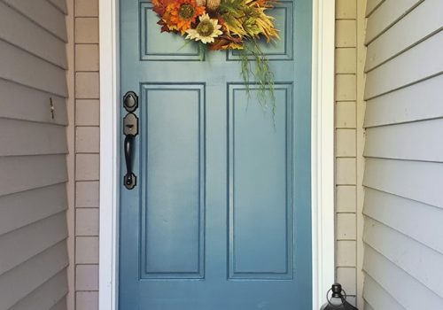 Painted front door Fall